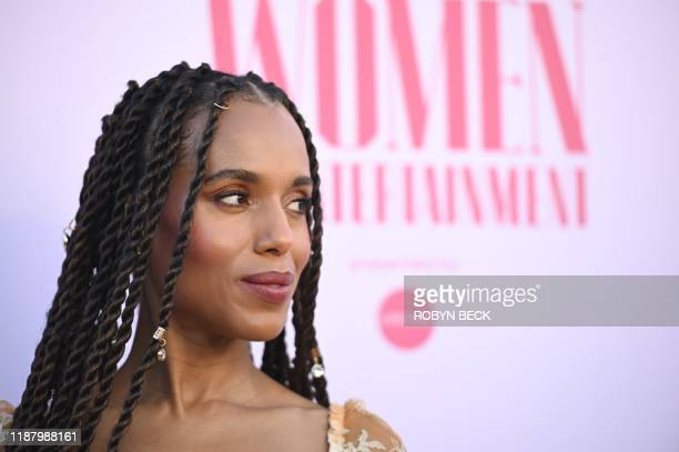 Actress Kerry Washington attends the Hollywood Reporter's annual Women in Entertainment Breakfast Gala, on December 11, 2019 at Milk Studios in...