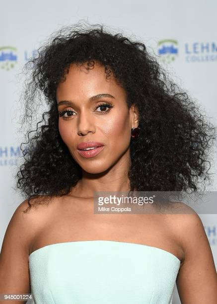 Actress Kerry Washington attends the Lehman College 50th Anniversary Celebration Leadership Awards Dinner at The Ziegfeld Ballroom on April 11 2018...