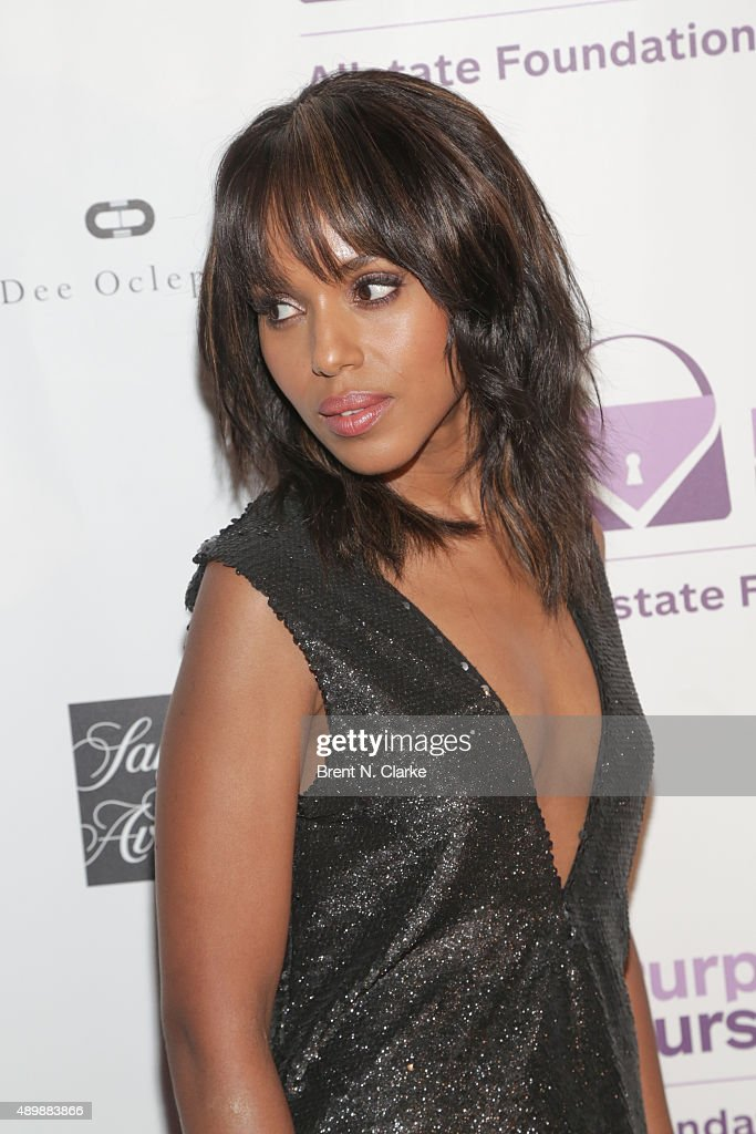 Kerry Washington is Gorgeous in Red Leather for Broadways