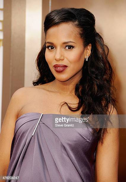 Actress Kerry Washington attends the Oscars held at Hollywood Highland Center on March 2 2014 in Hollywood California