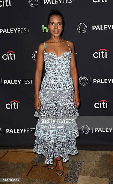 Actress Kerry Washington attends The Paley Center For Media's 33rd Annual PaleyFest Los Angeles Scandal at Dolby Theatre on March 15 2016 in...