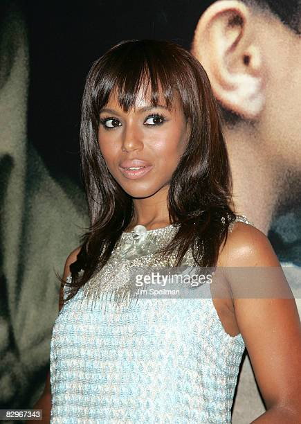 Actress Kerry Washington attends the premiere of Miracle at St Anna at Ziegfeld Theatre on September 22 2008 in New York City