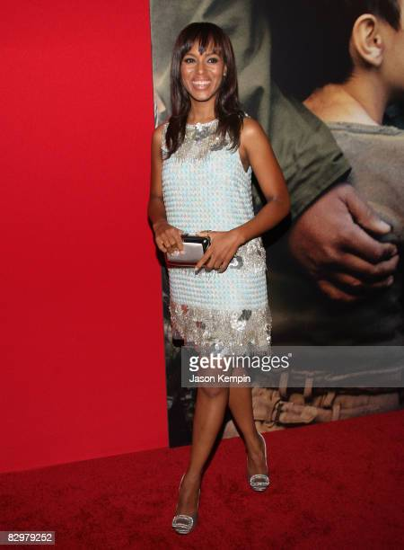 """Actress Kerry Washington attends the premiere of """"Miracle at St. Anna"""" at Ziegfeld Theatre on September 22, 2008 in New York City."""