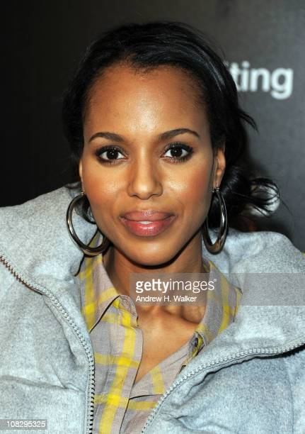 Actress Kerry Washington attends The Samsung Galaxy Tab Lift on January 24 2011 in Park City Utah