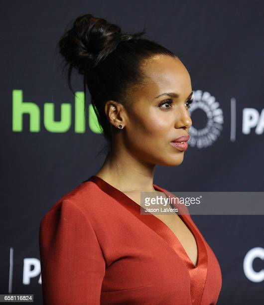 Actress Kerry Washington attends the 'Scandal' event at the Paley Center for Media's 34th annual PaleyFest at Dolby Theatre on March 26 2017 in...