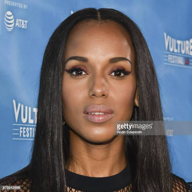 Actress Kerry Washington attends the Scandal Final Season Panel at Vulture Festival Los Angeles at Hollywood Roosevelt Hotel on November 18 2017 in...
