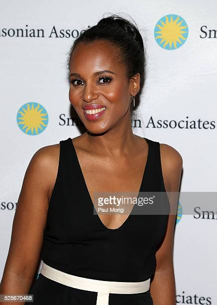 "Actress Kerry Washington attends the Smithsonian Associates's ""Scandal-ous!"" discussion with the cast and executive producers of ABC's ""Scandal"" at..."