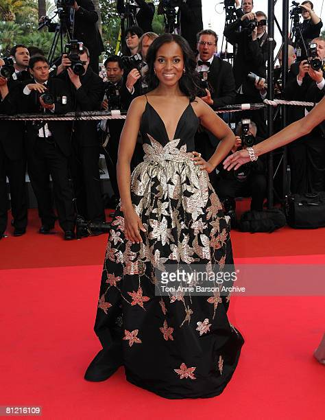 Actress Kerry Washington attends the 'Synecdoche New York' premiere at the Palais des Festivals during the 61st International Cannes Film Festival on...