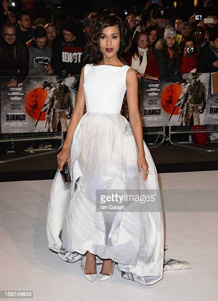 Actress Kerry Washington attends the UK Premiere of Django Unchained at the Empire Leicester Square on January 10 2013 in London England