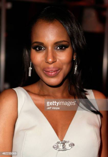 Actress Kerry Washington attends The Weinstein Company Netflix's 2014 Golden Globes After Party presented by Bombardier FIJI Water Lexus Laura...