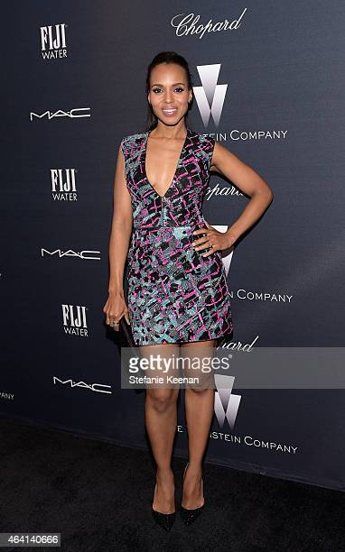 Actress Kerry Washington attends The Weinstein Company's Academy Awards Nominees Dinner in partnership with Chopard DeLeon Tequila FIJI Water and MAC...