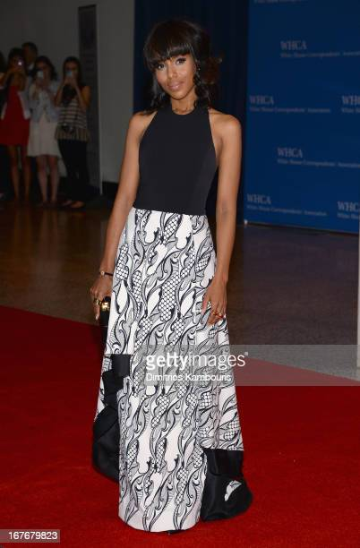 Actress Kerry Washington attends the White House Correspondents' Association Dinner at the Washington Hilton on April 27 2013 in Washington DC