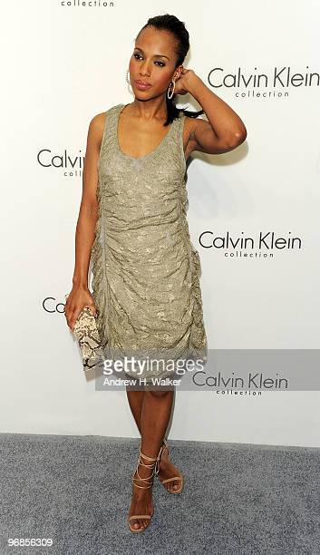 Actress Kerry Washington attends the Women's Fall 2010 Calvin Klein Collection after party on February 18 2010 in New York City