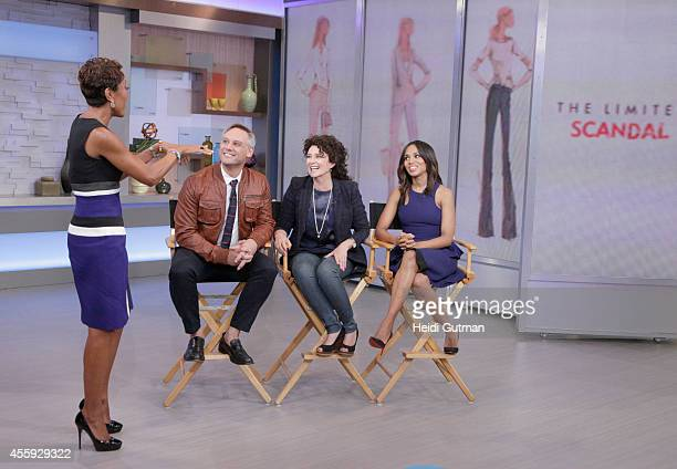 AMERICA Actress Kerry Washington costume designer Lyn Paolo and VP of design Elliot Staples discuss the new 'The Scandal Collection' at The Limited...
