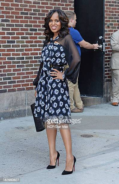 Actress Kerry Washington is seen on October 2 2013 in New York City