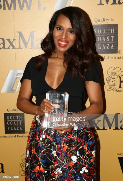 Actress Kerry Washington Lucy Award for Excellence in Television recipient attends Women In Film 2014 Crystal Lucy Awards presented by MaxMara BMW...