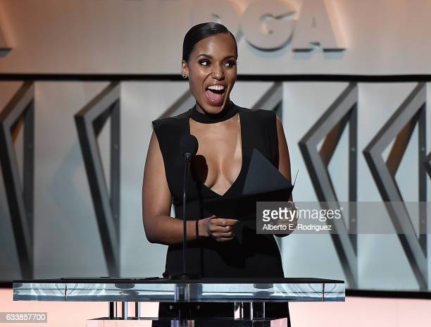 Actress Kerry Washington onstage during the 69th Annual Directors Guild of America Awards at The Beverly Hilton Hotel on February 4 2017 in Beverly...