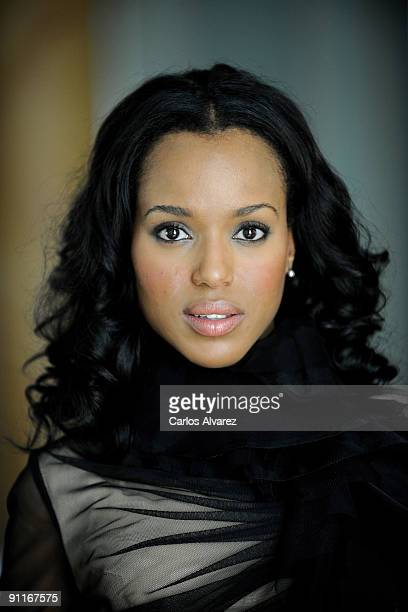 Actress Kerry Washington poses during a photo session at the Hotel Maria Crsitina to promote 'Mother and Child' during the 57th San Sebastian Film...