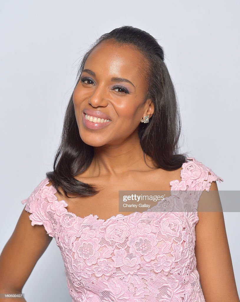 Actress Kerry Washington poses for a portrait during the 44th NAACP Image Awards at The Shrine Auditorium on February 1, 2013 in Los Angeles, California.