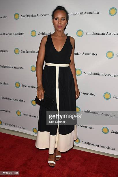 """Actress Kerry Washington poses on the red carpet during the """"Scandal-ous!"""" event hosted by the Smithsonian Associates with Shonda Rhimes and the cast..."""