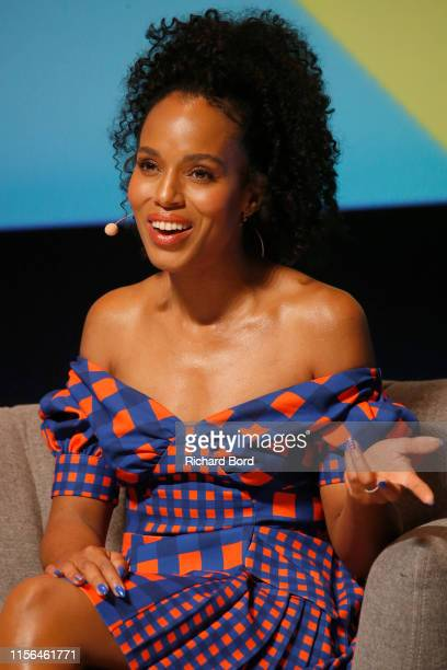 Actress Kerry Washington speaks on stage during the Hulu session at the Cannes Lions 2019 Day One on June 17 2019 in Cannes France