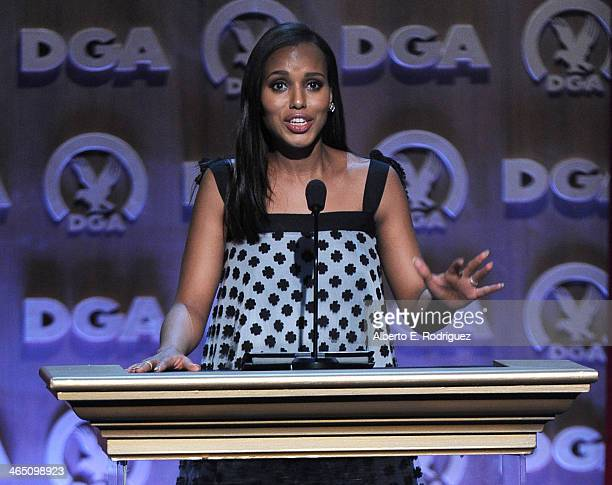 Actress Kerry Washington speaks onstage at the 66th Annual Directors Guild Of America Awards held at the Hyatt Regency Century Plaza on January 25...
