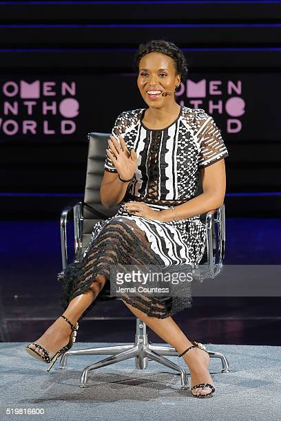 Actress Kerry Washington speaks onstage at The Lasting Impact of Anita Hill during Tina Brown's 7th Annual Women in the World Summit at David H Koch...