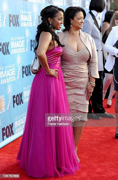 Actress Keshia Knight Pulliam and Denise Pulliam arrive at the 42nd NAACP Image Awards held at The Shrine Auditorium on March 4 2011 in Los Angeles...