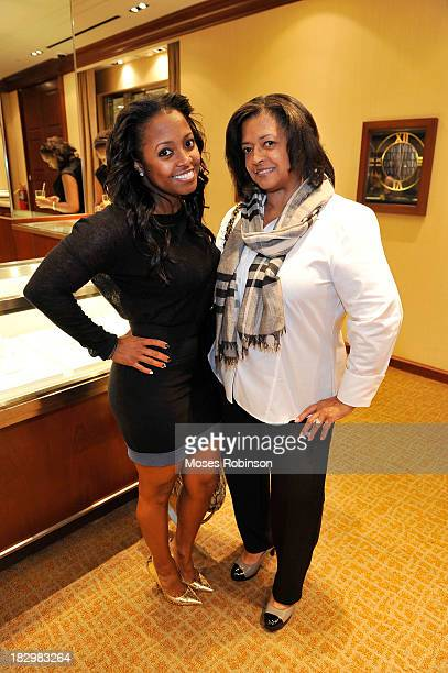 Actress Keshia Knight Pulliam and her mother Denise Pulliam attend Marie Claire Tiffany Co Atlanta Atlas Launch at Tiffany Co on October 2 2013 in...