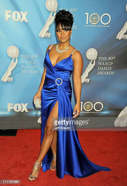 Actress Keshia Knight Pulliam arrives at the 40th NAACP Image Awards held at the Shrine Auditorium on February 12 2009 in Los Angeles California