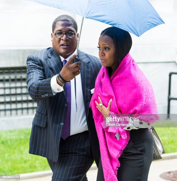 Actress Keshia Knight Pulliam is seen leaving the first day of Bill Cosby trial at Montgomery County Courthouse on June 5, 2017 in Norristown,...