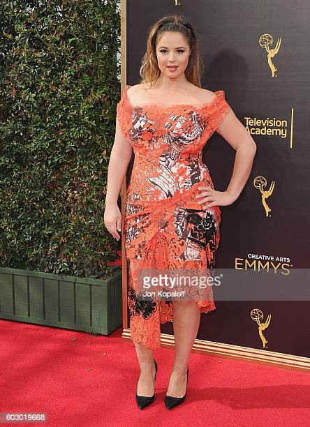 Actress Kether Donohue arrives at the 2016 Creative Arts Emmy Awards at Microsoft Theater on September 11 2016 in Los Angeles California