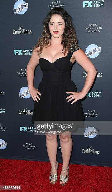 Actress Kether Donohue attends the premiere of FX's The Comedians at The Broad Stage on April 6 2015 in Santa Monica California