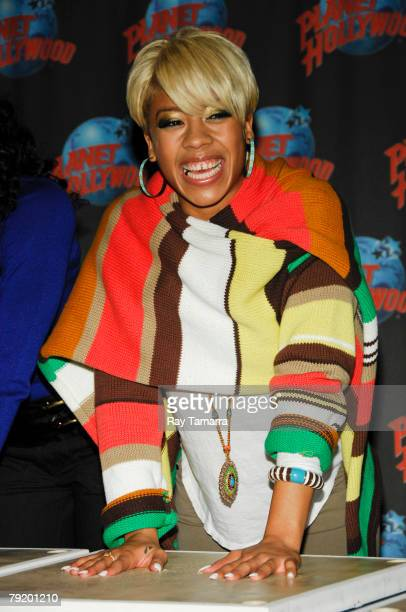 Actress Keyshia Cole attends the How She Move Handprint Ceremony at Planet Hollywood Times Square on January 24 2008 in New York City