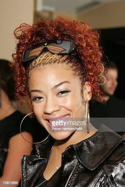 Actress Keyshia Cole poses backstage at the 2006 American Music Awards held at the Shrine Auditorium on November 21 2006 in Los Angeles California