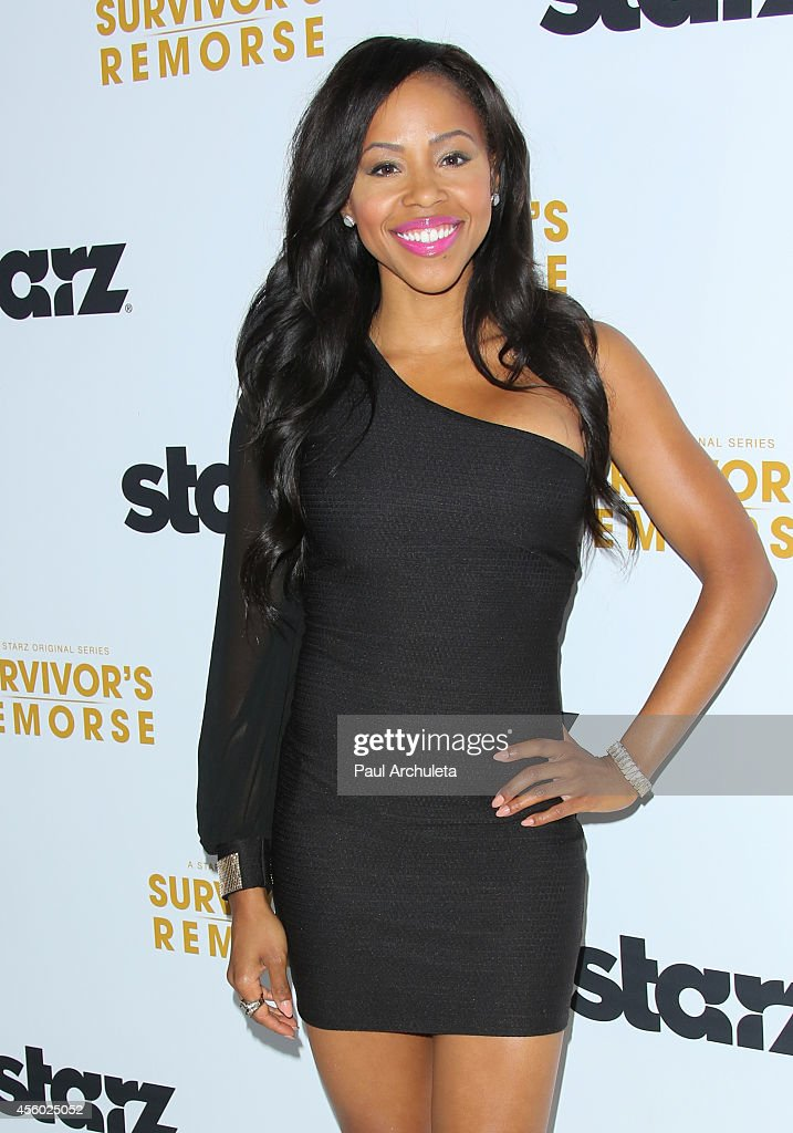 Actress Khaneshia 'KJ' Smith attends the STARZ new series 'Survivor's Remorse' premiere at the Wallis Annenberg Center for the Performing Arts on September 23, 2014 in Beverly Hills, California.