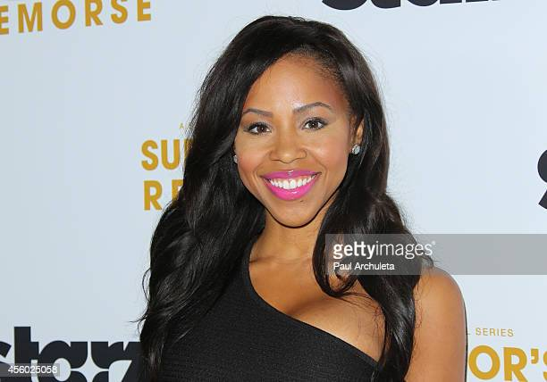 Actress Khaneshia 'KJ' Smith attends the STARZ new series Survivor's Remorse premiere at the Wallis Annenberg Center for the Performing Arts on...
