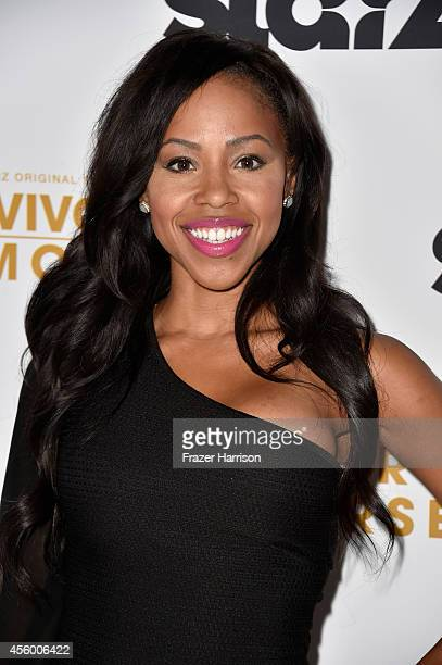 Actress Khaneshia''KJ' Smith arrives at the Premiere Of Starz Survivor's Remorse at Wallis Annenberg Center for the Performing Arts on September 23...