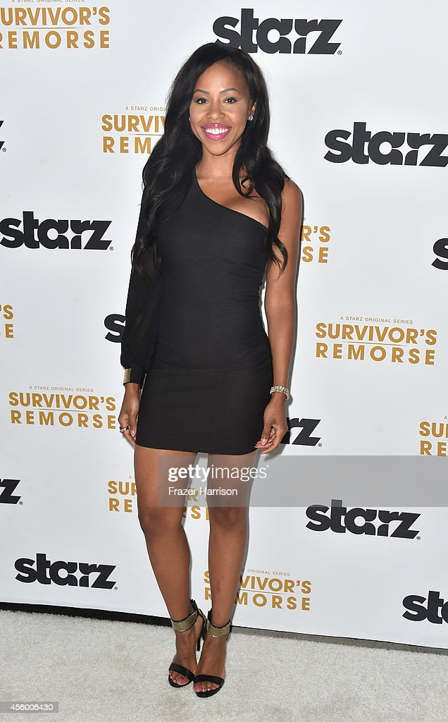 Actress Khaneshia''KJ' Smith arrives at the Premiere Of Starz 'Survivor's Remorse' at Wallis Annenberg Center for the Performing Arts on September 23, 2014 in Beverly Hills, California.