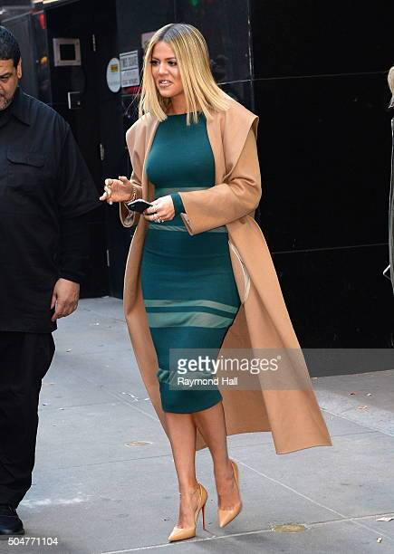 Actress Khloe Kardashian is seen outside 'Good Morning America' on January 13 2016 in New York City