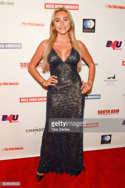 Actress Khloe Terae attends the Elite Awards ceremony charity gala for Jagrit at Renaissance Los Angeles Airport Hotel on August 5 2017 in Los...