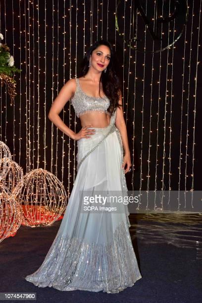 Actress Kiara Advani seen at PriyankaNicks wedding reception at hotel Taj Lands End in Mumbai The newlymarried couple Priyanka Chopra and Nick Jonas...