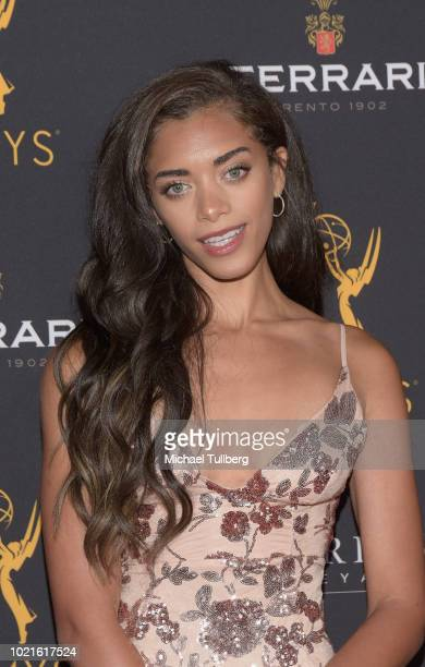 Actress Kiara Barnes attends the Television Academy's Daytime Programming Peer Group Reception at Saban Media Center on August 22 2018 in North...