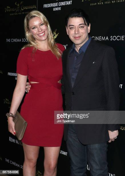 Actress Kiera Chaplin and Designer Malan Breton attend the screening of Pirates Of The Caribbean Dead Men Tell No Tales hosted by The Cinema Society...
