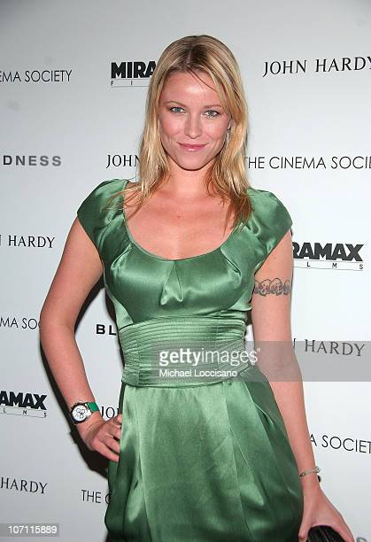 Actress Kiera Chaplin attends a screening of Blindness hosted by The Cinema Society at Chelsea Cinemas on September 22 2008 in New York City