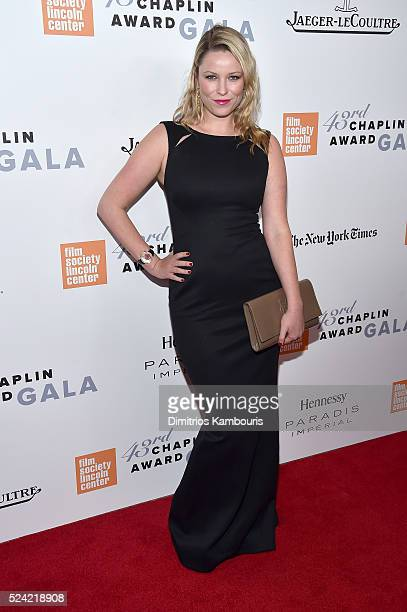 Actress Kiera Chaplin attends the 43rd Chaplin Award Gala on April 25 2016 in New York City