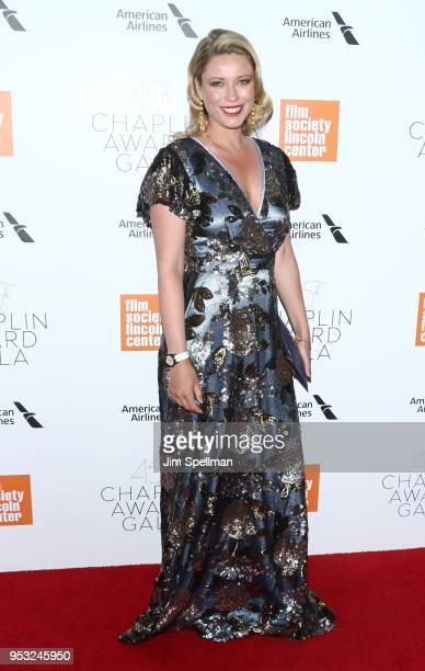Actress Kiera Chaplin attends the 45th Chaplin Award Gala honoring Helen Mirren at Alice Tully Hall on April 30 2018 in New York City