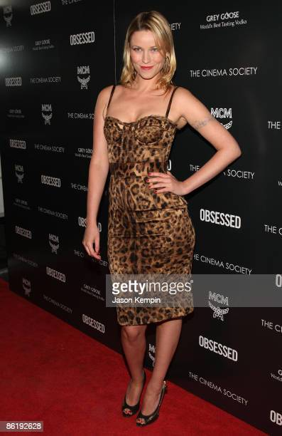 """Actress Kiera Chaplin attends the Cinema Society and MCM screening of """"Obsessed"""" at the School of Visual Arts on April 23, 2009 in New York City."""