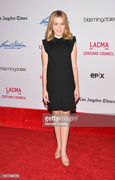 Actress Kiernan Shipka arrives at a screening of 'Diana Vreeland The Eye Has To Travel' at Bing Theatre At LACMA on September 10 2012 in Los Angeles...