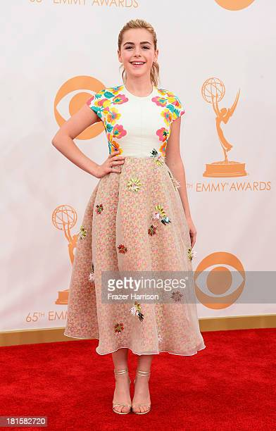 Actress Kiernan Shipka arrives at the 65th Annual Primetime Emmy Awards held at Nokia Theatre LA Live on September 22 2013 in Los Angeles California